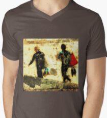 Retro Grunge Tee Men's V-Neck T-Shirt