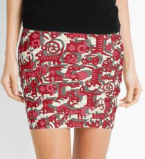 chinese animals red Mini Skirt