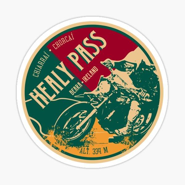 Healy Pass - Ireland, Motorcycle T-Shirt + Sticker Sticker