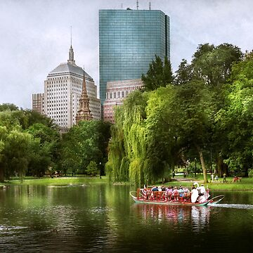 City - Boston Ma - Boston public garden by mikesavad