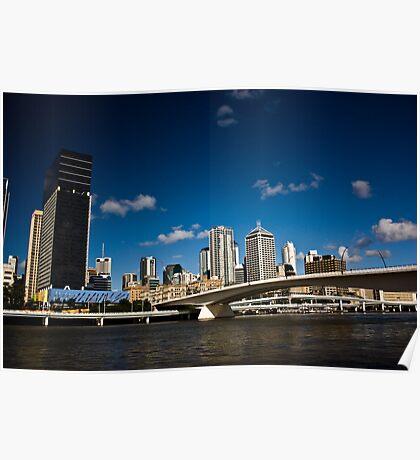 Brisbane Skyline by Day Poster