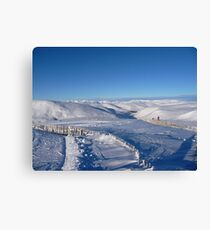 Ski Trails in Glenshee Canvas Print