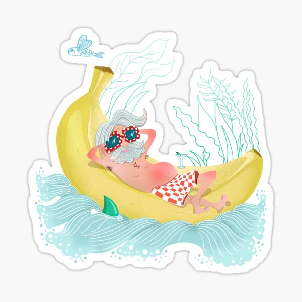 Chill on the banana Sticker