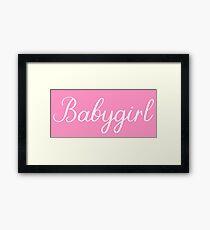 Babygirl Feminine Script Text Framed Print