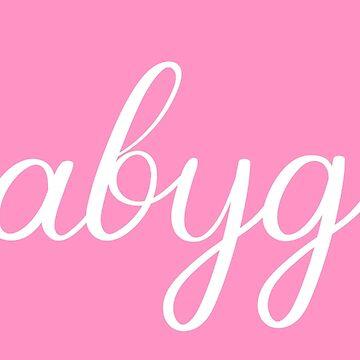 Babygirl Feminine Script Text by CeeGunn