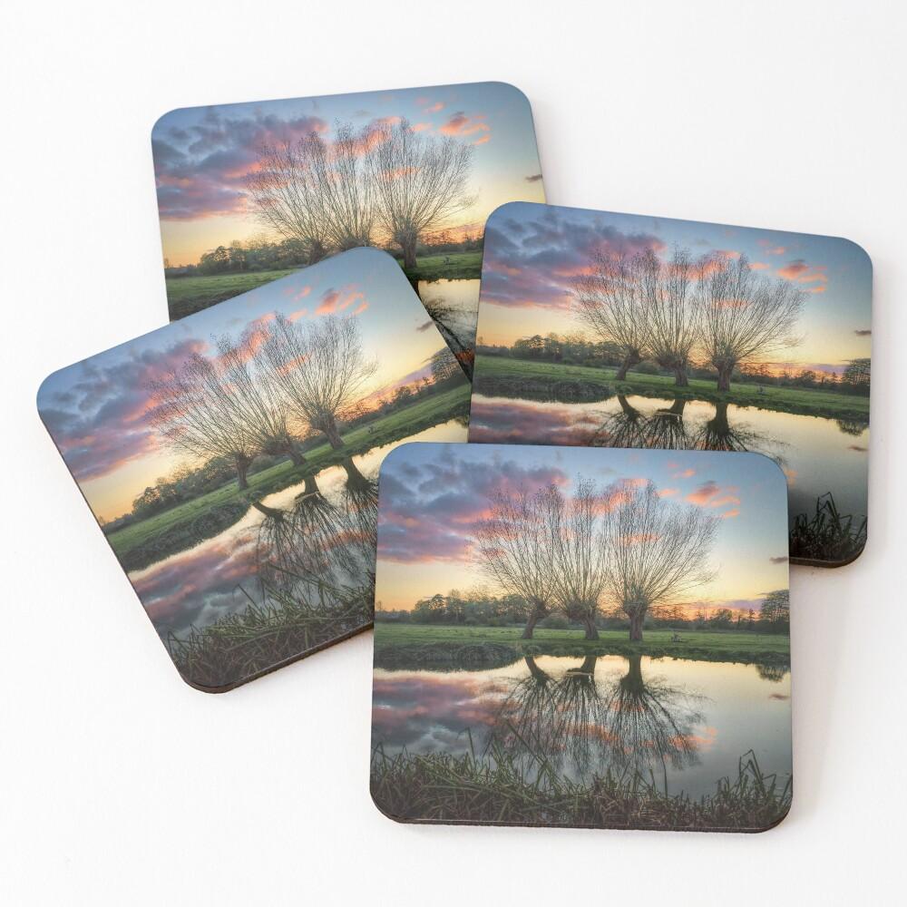 Autumn on the River Stour Coasters (Set of 4)