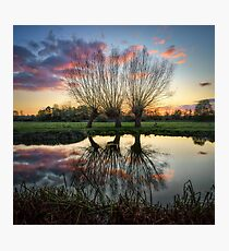 Autumn on the River Stour Photographic Print
