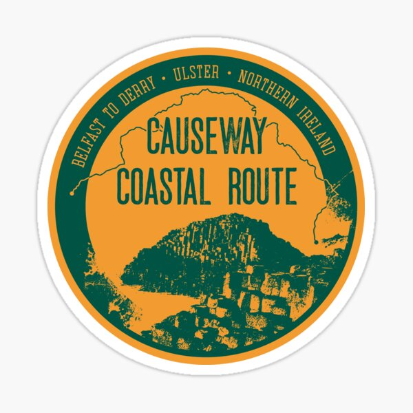 Causway Coastal Route - Northern Ireland T-Shirt + Sticker 3 Sticker