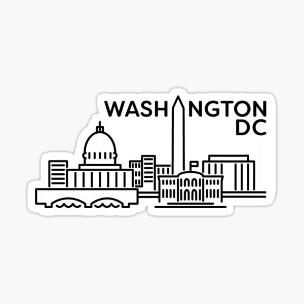Washington DC 3 Sticker