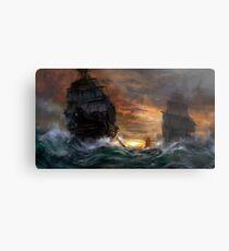 Ships drawn Metal Print