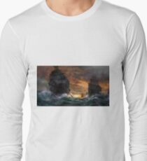 Ships drawn Long Sleeve T-Shirt