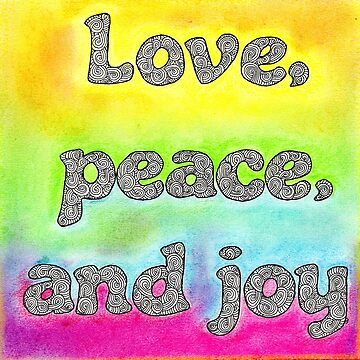 Pastel Art | Love Peace and Joy by coloringiship
