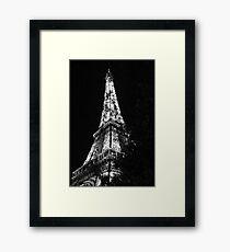 Eiffel Tower Black and White - Paris, FR Framed Print
