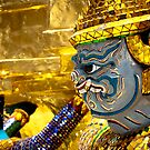 Bangkok Grand Temple Guard by Marcus Mawby