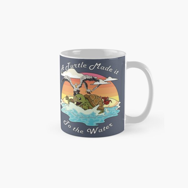 A Turtle Made it to the Water! Classic Mug