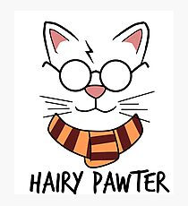 Hairy Pawter Photographic Print