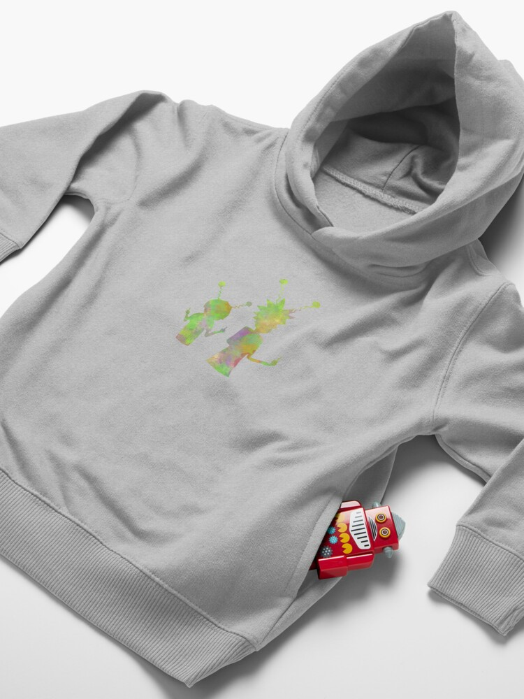 Alternate view of Rick and Morty silhouette - Peace among worlds  Toddler Pullover Hoodie