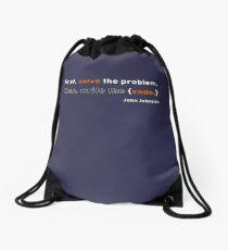 Solve the problem Drawstring Bag