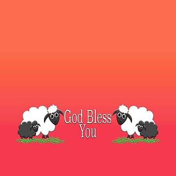 God Bless You with Sheep by LisaRent