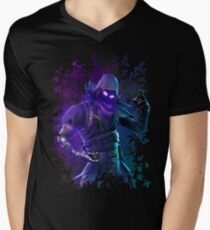 EPIC Fortnite Battle Royale Raven T Shirt Men's V-Neck T-Shirt