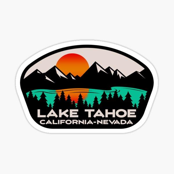 Lake Tahoe California Nevada Ski Skiing Boating Hiking Camping Sticker