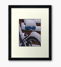 Out Of Service- snowed in Framed Print