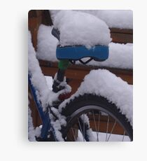 Out Of Service- snowed in Canvas Print