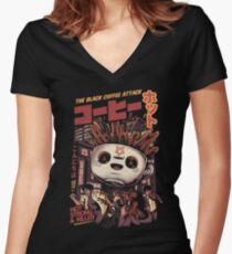 Black magic coffee Fitted V-Neck T-Shirt