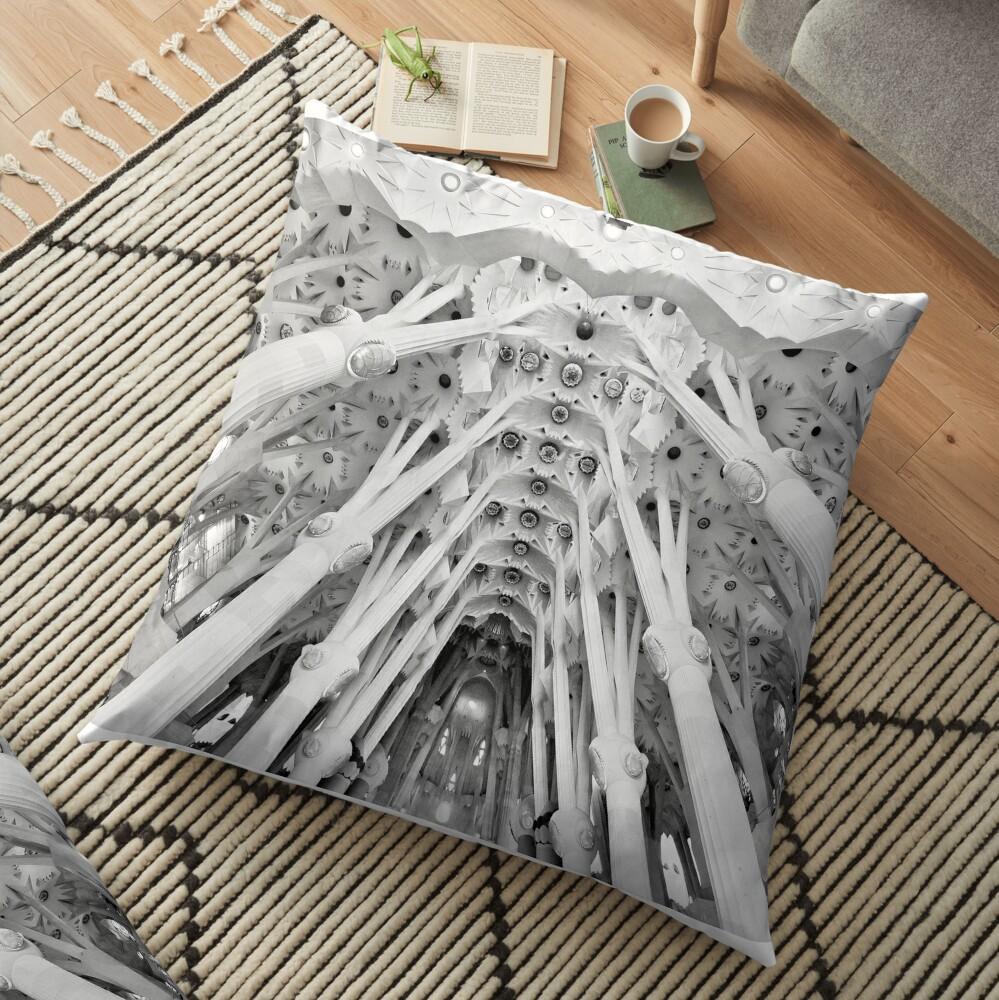 Sagrada Familia, Barcelona Floor Pillow
