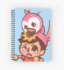 AlbertsStuff Flamingo  Spiral Notebook