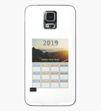 Early morning sunset poster calendar 2019 Case/Skin for Samsung Galaxy