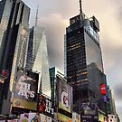 Skyscrapers in Times Square by Andrea Rapisarda