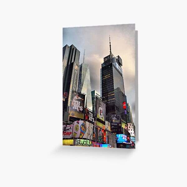Skyscrapers in Times Square Greeting Card