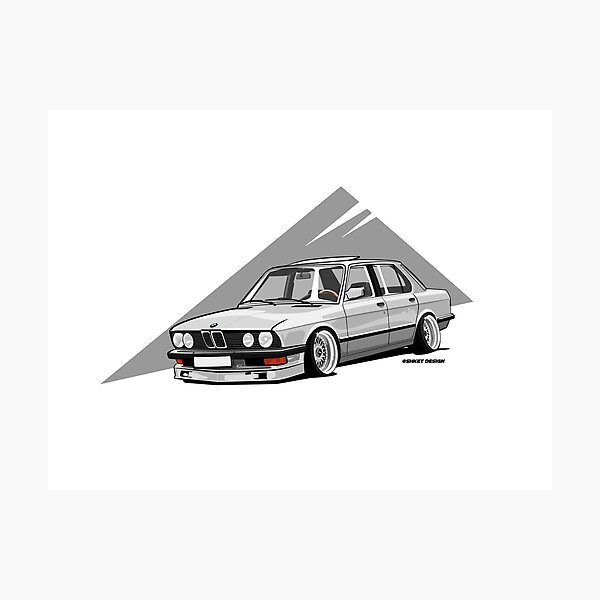 E28 STANCED ON BBS  Photographic Print