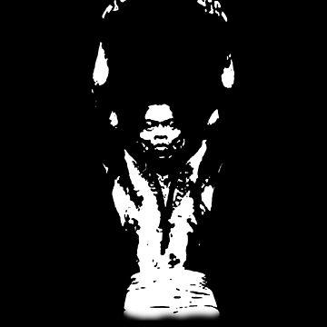KING FELA KUTI - Black and white Minimalist Design by MelanixStyles