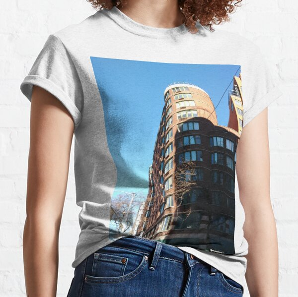New York City, Manhattan, New York, downtown, #NeeYorkCity, #Manhattan, #NeeYork, #downtown, #buildings, #streets, #avenues, #skyscrapers, #cars, #pedestrians Classic T-Shirt