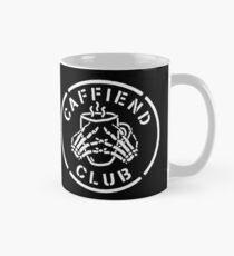 Misfits Caffiend Club white stencil design Mug