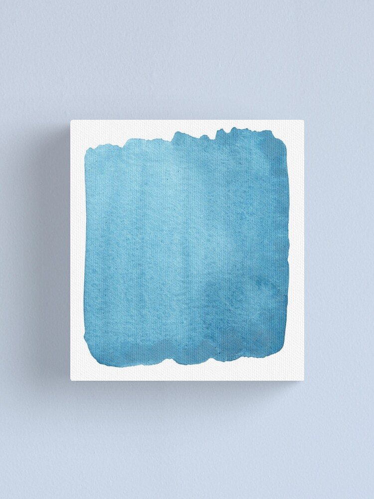 Alternate view of Blue Watercolor brush stroke (small) Canvas Print
