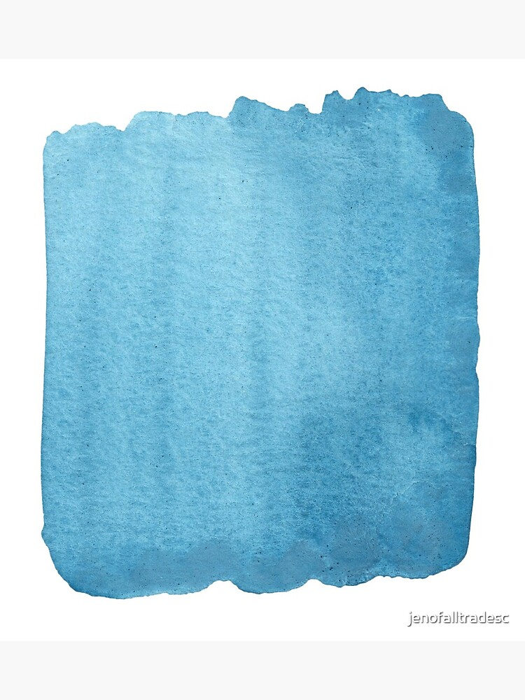 Blue Watercolor brush stroke (small) by jenofalltradesc