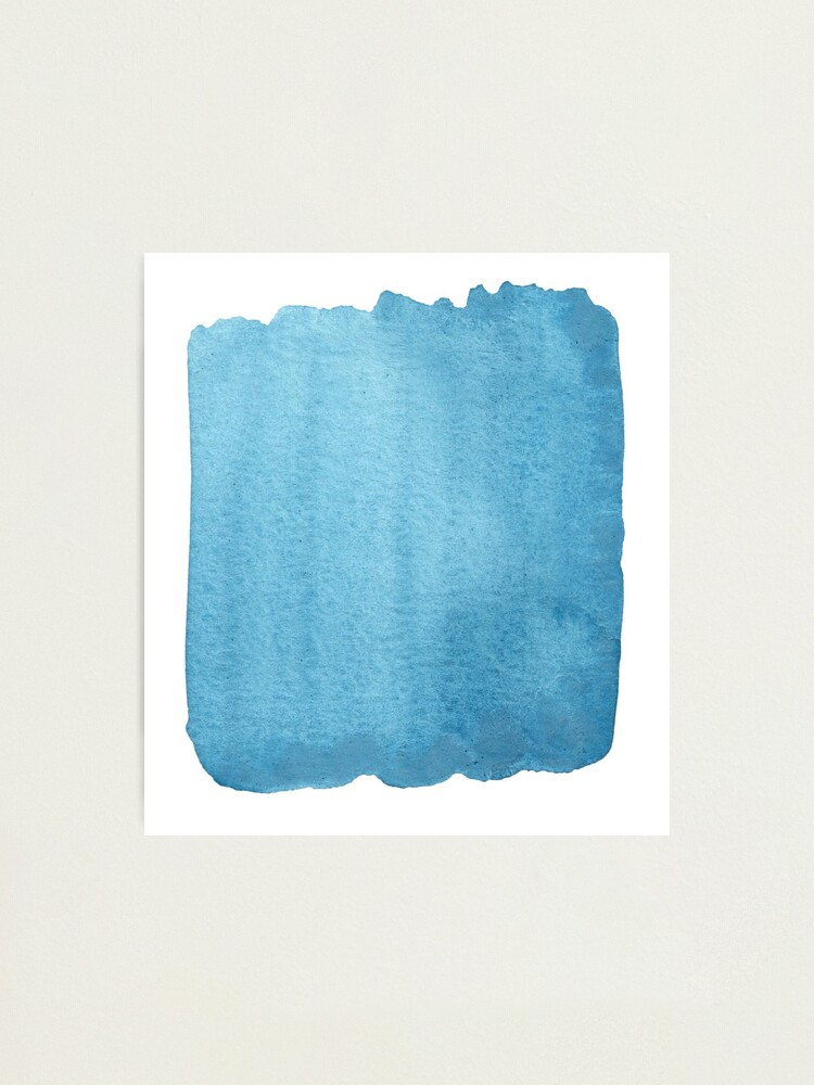 Alternate view of Blue Watercolor brush stroke (small) Photographic Print