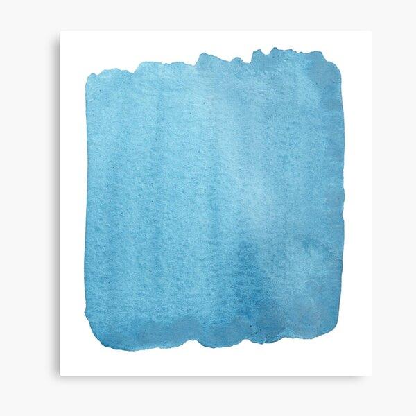 Blue Watercolor brush stroke (small) Metal Print