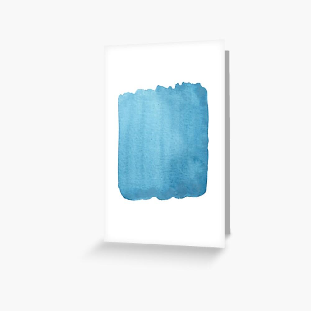 Blue Watercolor brush stroke (small) Greeting Card