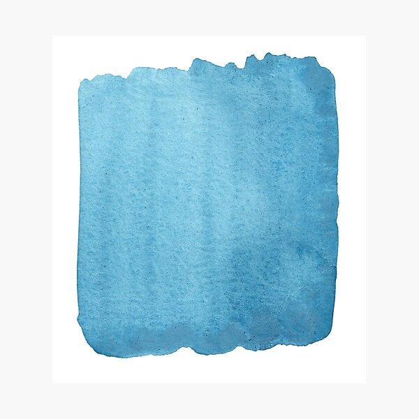 Blue Watercolor brush stroke (small) Photographic Print