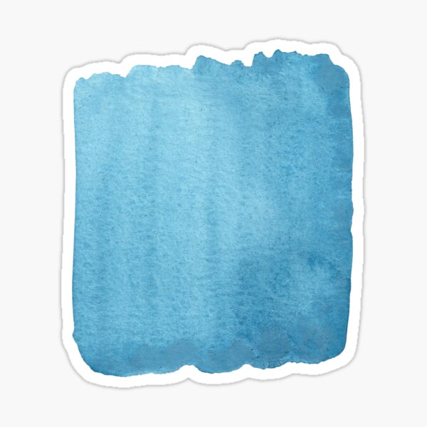 Blue Watercolor brush stroke (small) Sticker