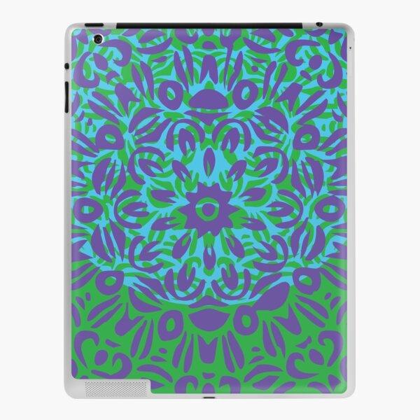 Floral Burst, Light Purple, Turquoise & Green Mandala 12 iPad Skin