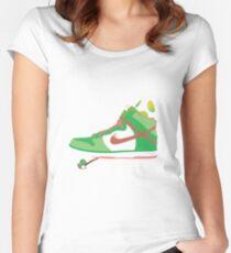 Bal-ang! Yoshi got dunks. Women's Fitted Scoop T-Shirt