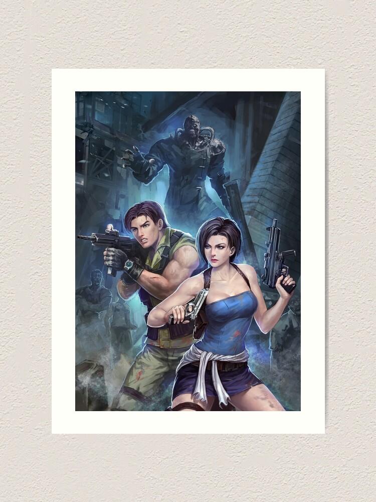Resident Evil 3 Jill Carlos Nemesis Art Print By Phantoma