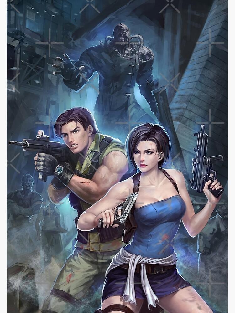 Resident Evil 3 Jill Carlos Nemesis Greeting Card By