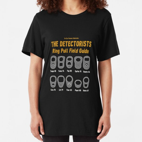 Detectorists Ring Pull Field Guide by Eye Voodoo Slim Fit T-Shirt