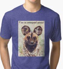 I am an endangered species! Tri-blend T-Shirt